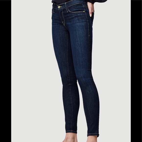 Frame Denim Jeans | Frame Le Skinny De Jeanne Deep Dark Blue Wash ...